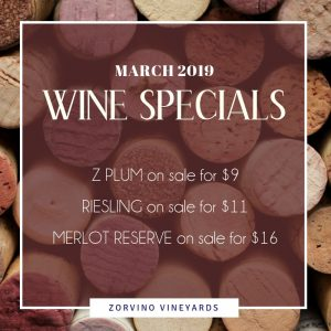 Zorvino March Wine Specials
