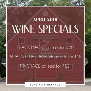 Zorvino April Wine Specials