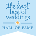 The Knot Weddings Hall of Fame award
